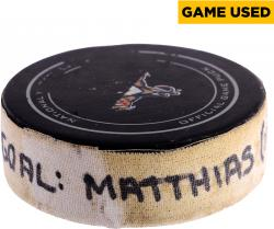 Shawn Matthias Florida Panthers 3/28/13 Game-Used Goal Puck #1 vs. Buffalo Sabres