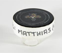 Shawn Matthias Florida Panthers 3/5/13 Game-Used Goal Puck vs. Winnipeg Jets - Mounted Memories