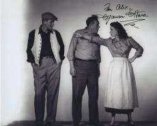Maureen O'hara Signed Autographed Bw 8x10 Photo For Alex With John Wayne