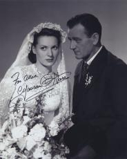 Maureen O'hara Signed Autographed Bw 8x10 Photo For Allan With John Wayne