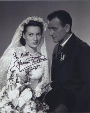 Maureen O'hara Signed Autographed Bw 8x10 Photo For Bill 2 With John Wayne