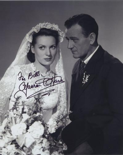 Maureen O'hara Signed Autographed Bw 8x10 Photo For Bill 2 With John Wayne