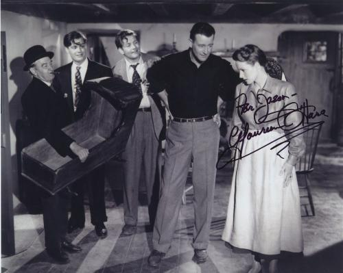 Maureen O'hara Signed Autographed Bw 8x10 Photo For Jason With John Wayne