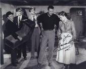 Maureen O'hara Signed Autographed Bw 8x10 Photo For John With John Wayne