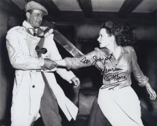 Maureen O'hara Signed Autographed Bw 8x10 Photo For Joseph With John Wayne