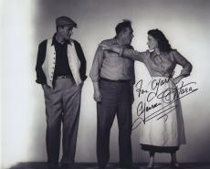 Maureen O'hara Signed Autographed Bw 8x10 Photo For Mark With John Wayne