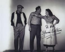 Maureen O'hara Signed Autographed Bw 8x10 Photo For Mike With John Wayne