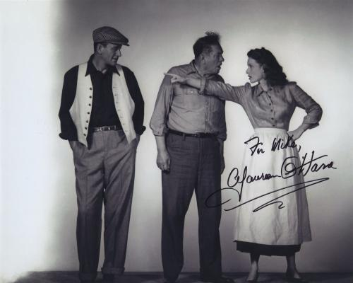 Maureen O'hara Signed Autographed Bw 8x10 Photo For Mike With John Wayne