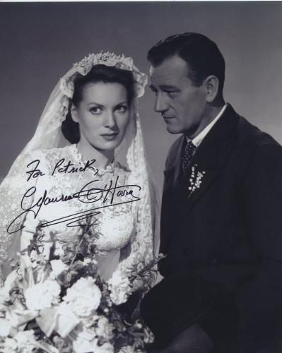 Maureen O'hara Signed Autographed Bw 8x10 Photo For Patrick With John Wayne
