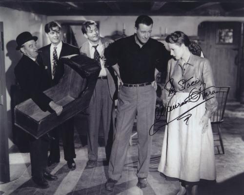 Maureen O'hara Signed Autographed Bw 8x10 Photo For Staci With John Wayne