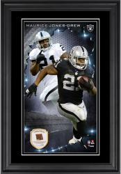 Maurice Jones-Drew Oakland Raiders 10'' x 18'' Vertical Framed Photograph with Piece of Game-Used Football - Limited Edition of 250