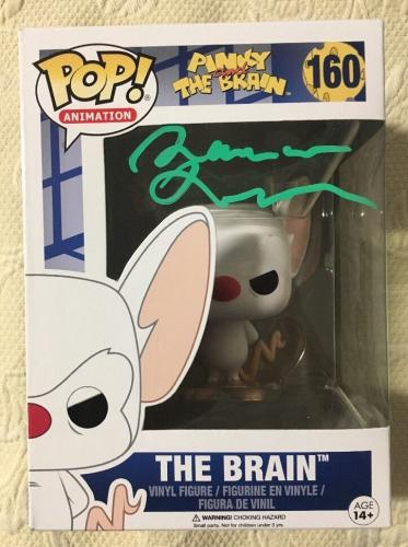 Maurice Lamarche Signed Autographed Pinky And The Brain FUNKO POP BECKETT COA