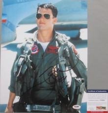 MAVERICK PETE MITCHELL!!! Tom Cruise Signed TOP GUN 11x14 Photo #1 PSA/DNA