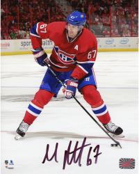 "Max Pacioretty Montreal Canadiens Autographed Red Jersey Vertical With Puck 8"" x 10"" Photograph"