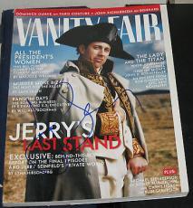 May 1998 Jerry Seinfeld TV Legend Comedian SIGNED Vanity Fair Magazine COA HOT