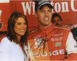 Jeremy Mayfield Autographed 8'' x 10'' With Girl Photograph