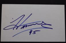 MC Hammer Can't Touch This Autographed Celebrity 3x5 Card Signed 15A