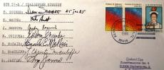 Mcauliff Smith Reznik Scobee McNair STS 51 L Challenger Crew Signed FDC PSA/DNA