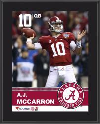"AJ McCarron Alabama Crimson Tide Sublimated 10.5"" x 13"" Plaque"