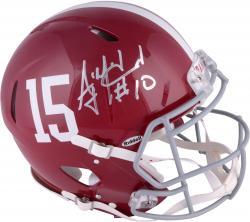 AJ McCarron Alabama Crimson Tide Autographed Riddell Pro-Line Authentic Helmet