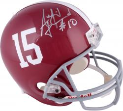AJ McCarron Alabama Crimson Tide Autographed Riddell Replica Helmet