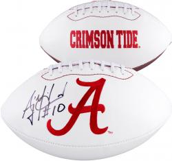 AJ McCarron Alabama Crimson Tide Autographed White Panel Football - Mounted Memories