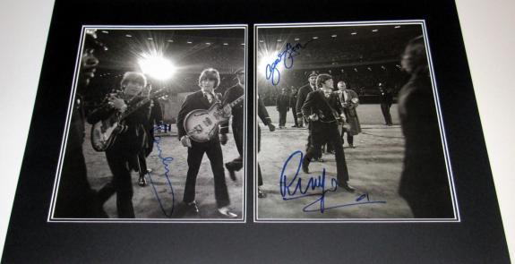 McCartney, Starr, Harrison Signed Jim Marshall Last Ever Beatles Concert 24x16 Print - BB COA