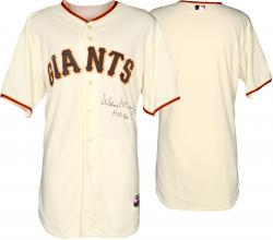 Willie McCovey San Francisco Giants Autographed Cream Jersey with HOF 1986 Inscription