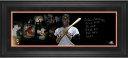 Framed Limited Edition Willie McCovey Signed 10x30 Film Strip Photo - LE44 #1