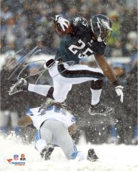 "LeSean McCoy Philadelphia Eagles Autographed 8"" x 10"" Leaping In Snow Photograph"