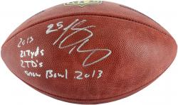 LeSean McCoy Philadelphia Eagles Autographed Duke Pro Football with Multiple Inscriptions - Mounted Memories