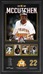 "Andrew McCutchen Pittsburgh Pirates 2013 National League MVP Award 10"" x 18"" Framed Collage with Game-Used Baseball - Limited Edition of 500"