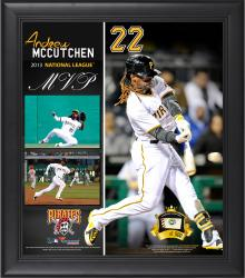 "Andrew McCutchen Pittsburgh Pirates 2013 National League MVP Award Framed 15"" x 17"" Collage with Game-Used Baseball - Limited Edition of 500"