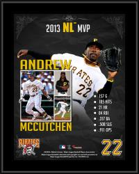 Andrew McCutchen Pittsburgh Pirates 2013 National League MVP Award Sublimated 10.5'' x 13'' Plaque - Mounted Memories