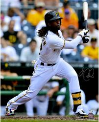 "Andrew McCutchen Pittsburgh Pirates Autographed 16"" x 20"" White Jersey Batting Photograph"