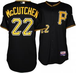 Andrew McCutchen Pittsburgh Pirates Autographed Majestic Authentic Black Jersey - Mounted Memories