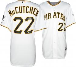 Andrew McCutchen Pittsburgh Pirates Autographed Majestic Authentic White Jersey - Mounted Memories