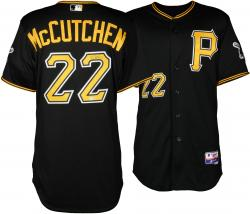 Andrew McCutchen Pittsburgh Pirates Autographed Game-Used Majestic Authenic Black Jersey