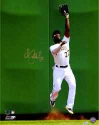 "Andrew McCutchen Pittsburgh Pirates Autographed 16"" x 20"" White Jersey Fielding Photograph"