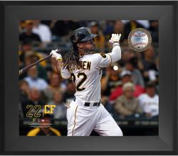 "Andrew McCutchen Pittsburgh Pirates Framed 20"" x 24"" Gamebreaker Photograph with Game-Used Ball"