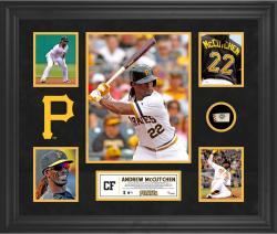 Andrew McCutchen Pittsburgh Pirates Framed 5-Photo Collage with Piece of Game-Used Ball - Mounted Memories