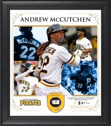 "Andrew McCutchen Pittsburgh Pirates Framed 15"" x 17"" Collage with Piece of Game-Used Ball"