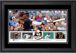 Andrew McCutchen Pittsburgh Pirates Framed Panoramic with Piece of Game-Used Ball - Limited Edition of 500 - Mounted Memories