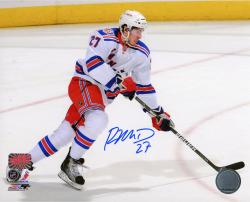 "Ryan McDonagh New York Rangers Autographed 8"" x 10"" Skating White Uniform Photograph"