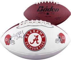 Greg McElroy Alabama Crimson Tide Autographed Logo Football