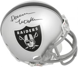 Oakland Raiders Darren McFadden Autographed Mini Helmet - Mounted Memories