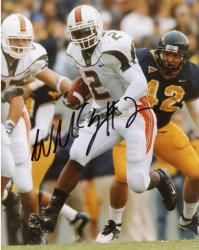 Fanatics Authentic Autographed Willis McGahee Miami Hurricanes 8'' x 10'' Defender Behind Photograph