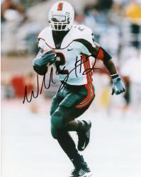 Fanatics Authentic Autographed Willis McGahee Miami Hurricanes 8'' x 10'' Running Ball Solo Photograph