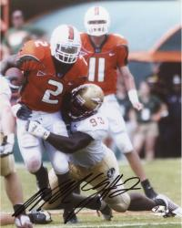 Fanatics Authentic Autographed Willis McGahee Miami Hurricanes 8'' x 10'' vs. FSU Seminoles Breaking Tackle Photograph