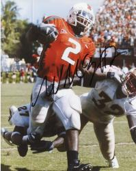 Fanatics Authentic Autographed Willis McGahee Miami Hurricanes 8'' x 10'' vs. FSU Seminoles Stiff Arming Photograph